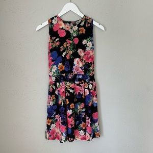 Burberry London Black Floral Dress Fits Like XS